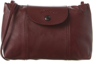 Longchamp Le Pliage Cuir Leather Crossbody
