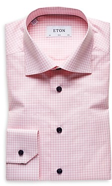 Eton Check Slim Fit Dress Shirt