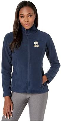 Columbia College Notre Dame Fighting Irish CLG Give and Gotm II Full Zip Fleece Jacket (Collegiate Navy) Women's Fleece