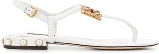 Dolce & Gabbana Flat Logo Sandals