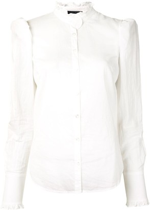 Veronica Beard Holli mandarin collar shirt