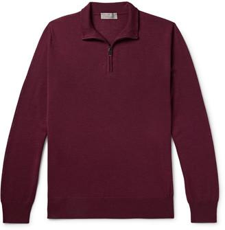 Canali Merino Wool Half-Zip Sweater