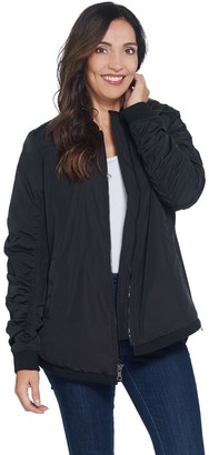 Logo by Lori Goldstein Bomber Jacket with Side Zips