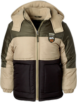 iXtreme Olive Color Block Puffer Coat - Infant & Boys