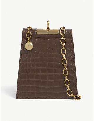 Gu_de Emma croc-embossed leather shoulder bag