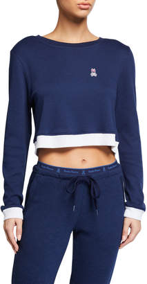 Psycho Bunny Contrast Cropped Waffle Top