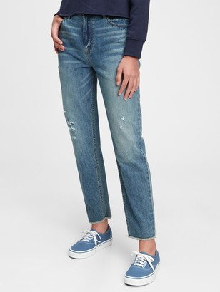 Gap Teen Recycled Sky High-Rise Mom Jeans