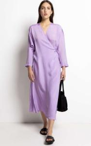 Humanoid Duva Violet Wrap Dress - S