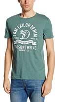 Tom Tailor Men's Short Sleeve T-Shirt - Green -