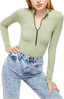 Urban Outfitters Bdg Half Zip Ribbed Top