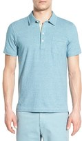 Billy Reid Men's 'Pensacola' Mini Stripe Trim Fit Jersey Polo