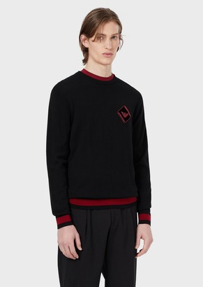 Emporio Armani Pure Virgin Wool Sweater With Patch