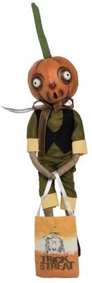 C&F Home Orvis Pumpkin Head Guy Joe Spencer Gathered Traditions Art Doll