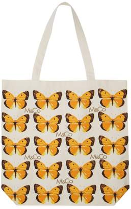 M&Co Butterfly print bag for life