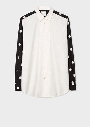 Paul Smith Men's Classic-Fit Shirt With Contrast Sleeves