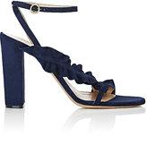 Chloé Women's Asymmetric Ruffle-Strap Sandals-NAVY