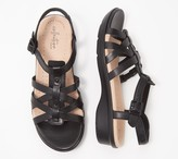 Clarks Collection Leather Sandals - Loomis Katey