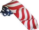 Asstd National Brand American Lifestyle Flowing Stars and Stripes Flag tie