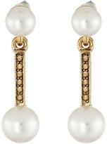 Oscar de la Renta Pearl Drop P Earrings