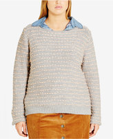 City Chic Trendy Plus Size Textured Sweater