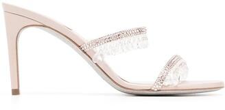 Rene Caovilla Chandelier 80mm satin sandals