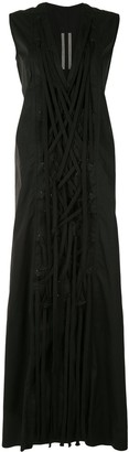 Rick Owens Tie Front Maxi Dress