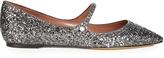 Tabitha Simmons Hermione point-toe glitter flats