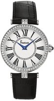 Freelook Women's HA1025-4 Blk Leather Band/Silver Face Watch