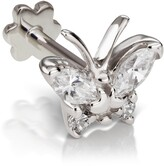 Maria Tash Diamond Marquise Butterfly Threaded Stud Earring