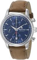 Alpina Men's AL-750N4E6 Alpiner Chronograph Analog Display Automatic Self Wind Brown Watch