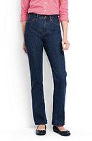 Lands' End Women's High Rise Straight Leg Jeans-Medium Indigo