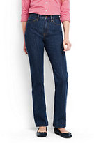Lands' End Women's Petite High Rise Straight Leg Jeans-Medium Wash