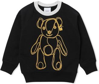 BURBERRY KIDS Bear Chain Print Sweatshirt