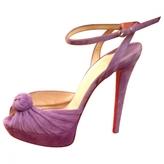Christian Louboutin Purple Suede Heels