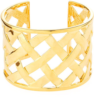 Kenneth Jay Lane Basketweave Cuff Bracelet