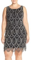 Pisarro Nights Plus Size Women's Beaded Sheath Dress