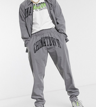 Chinatown Market Arc reflective pants in silver
