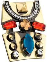 Iosselliani Crystal & Stud Cocktail Ring