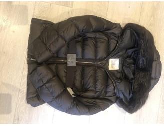 Moncler Fur Hood Brown Coat for Women