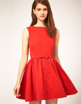 ASOS Skater Dress with Bow Front