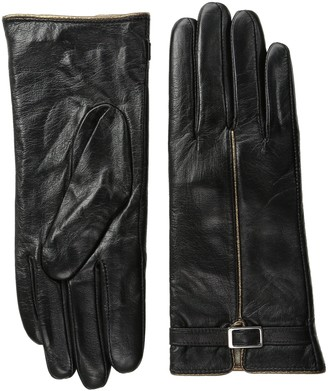 La Fiorentina Women's Sheep Leather Touchscreen Glove with Buckle