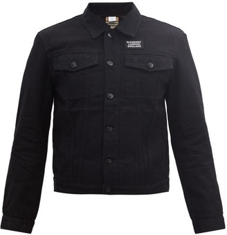 Burberry Satchwell Logo-print Denim Jacket - Black