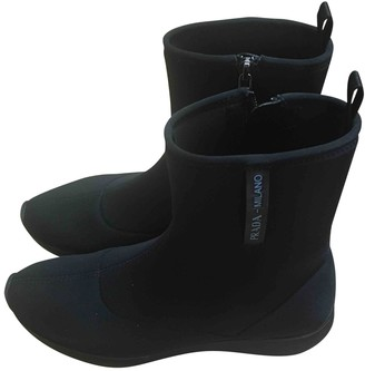 Prada Black Rubber Ankle boots