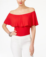 INC International Concepts Off-The-Shoulder Bodysuit, Only at Macy's