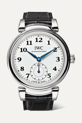 IWC SCHAFFHAUSEN Da Vinci Automatic 40mm Stainless Steel And Alligator Watch - Silver