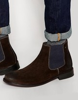 Base London Scuttle Suede Chelsea Boots