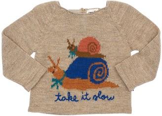 Oeuf Snail Baby Alpaca Knit Sweater