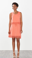 Esprit OUTLET layered look dress with lace detail