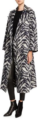 Forte Forte Corteccia Wool Jacquard Long Coat