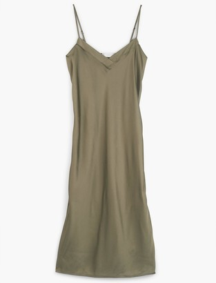 Lucky Brand Satin Midi Dress